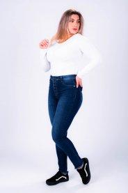 Imagem - Calça Jeans Feminina Skinny com Botões