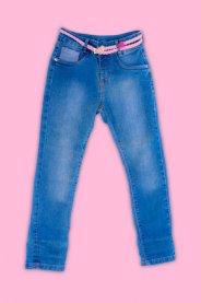 Imagem - Calça Jeans Infantil Menina com Cinto