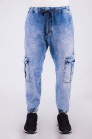 Imagem - Calça Jeans Masculina Jogger Com Bolso Cargo