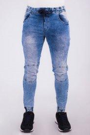Imagem - Calça Jeans Masculina Jogger Detalhe Recorte No Joelho