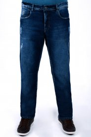 Imagem - Calça Jeans Masculina Skinny Azul Detalhe Puídos