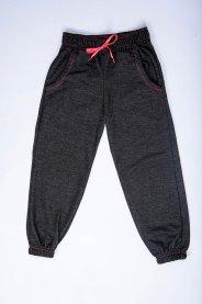 Imagem - Calça Jogger Infantil Menina Moletinho Jeans Escuro