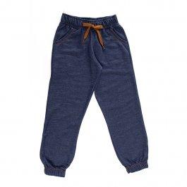 Imagem - Calça Moletinho Infantil Menino Cor Jeans com Punho