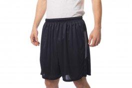 Imagem - Calção de Futebol Masculino Plus Size Tradicional Detalhe Duas Listras Cinza