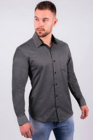Imagem - Camisa Sarja Tradicional Masculina Com Bolso