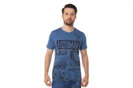Imagem - Camiseta Algodão Masculina Manga Curta Gola Redonda Azul Belga Com Estampa Mormaii