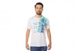 Imagem - Camiseta Algodão Masculina Manga Curta Gola Redonda Branca Com Estampa Mormaii