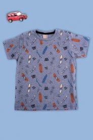 Imagem - Camiseta Infantil Estampada Skate Time