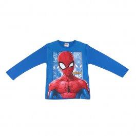 Imagem - Camiseta Infantil Menino Azul Estampa Spiderman