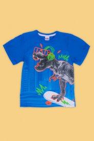 Imagem - Camiseta Infantil Menino Estampada Dino Skate