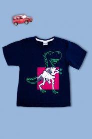 Imagem - Camiseta Infantil Menino Estampada RaioX Dino