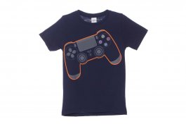 Imagem - Camiseta Infantil Menino Marinho Manga Curta Estampa Game