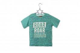 Imagem - Camiseta Infantil Menino Verde Manga Curta Estampa Mini Print Dinossauros