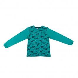 Imagem - Camiseta Infantil Menino Verde Mini Print Dinossauros