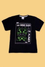 Imagem - Camiseta Juvenil Masculina Estampada Game