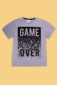 Imagem - Camiseta Juvenil Masculina Estampada Game Over