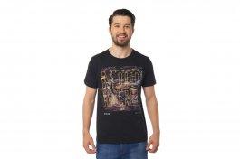 Imagem - Camiseta Masculina Manga Curta Gola Redonda Preta Com Estampa Motocicleta
