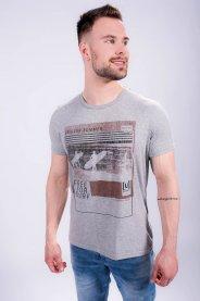 Imagem - Camiseta Masculina Manga Curta Mescla