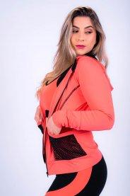 Imagem - Casaco Feminino Poliamida Esportivo com Capuz