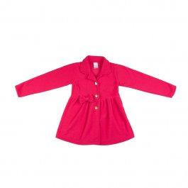 Imagem - Casaqueto Infantil Menina Pink com Aplique Laço