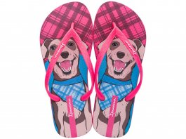 Imagem - Chinelo Ipanema Feminino Pets Estampa de Dog Rosa