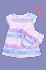 Imagem - Conjunto Bebê Menina Vestido Com Calcinha