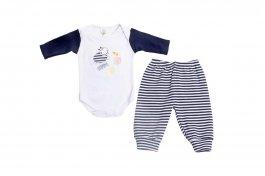 Imagem - Conjunto Bebê Menino Body e Calça Bordado
