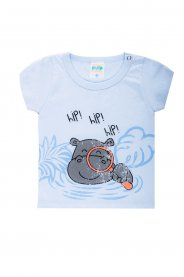 Imagem - Conjunto Bebê Menino Estampa Hipopótamo