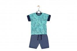 Imagem - Conjunto Bebê Menino Safari Camiseta Bermuda Moletinho