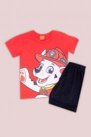 Imagem - Conjunto Infantil Camiseta e Bermuda Marshall Patrulha Canina