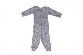 Imagem - Conjunto Pijama Bebê Menino Canelado Estampado Mescla
