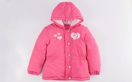 Imagem - Jaqueta Com Fleece Bebê Menina Pink Com Capuz