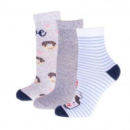 Imagem - kit de meias c/3 Pares Soquete Feminina Cano Médio