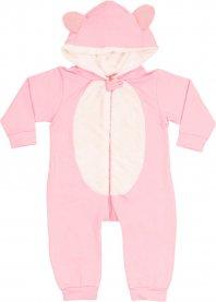 Imagem - Macação Bebê longo plush com capuz e orelhas