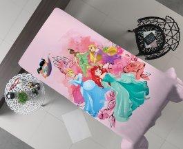 Imagem - Manta Decorativa Flanel Solteiro Princesas 150x220