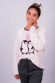 Imagem - Pijama em Moletinho Off White com Estampa