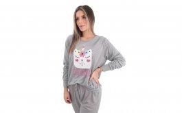 Imagem - Pijama Feminino Longo com Silk