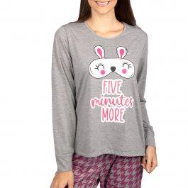 Imagem - Pijama Feminino Longo Estampado