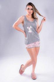Imagem - Pijama Feminino Mescla Estampa Dog