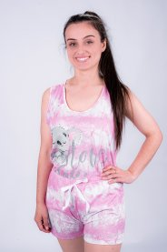Imagem - Pijama Feminino Tie Dye Rosa Estampa Coala