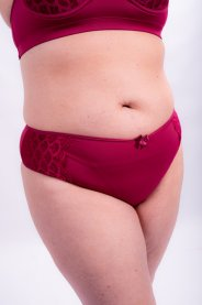 Imagem - Tanga Feminina Plus Size Com Renda