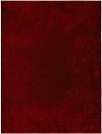 Imagem - Tapete Veludo Realce Liso Cor Vermelha 100x150