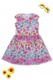 Imagem - Vestido Cotton Infantil Menina Color