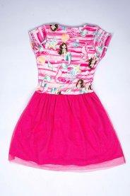 Imagem - Vestido Infantil Menina Estampa Sereia Com Tule Glitter