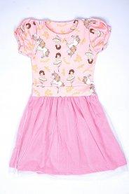Imagem - Vestido Infantil Menina Estampa Unicórnio Com Tule Glitter