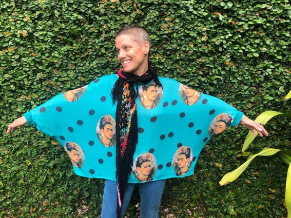 Blusa Ampla Frida Azul