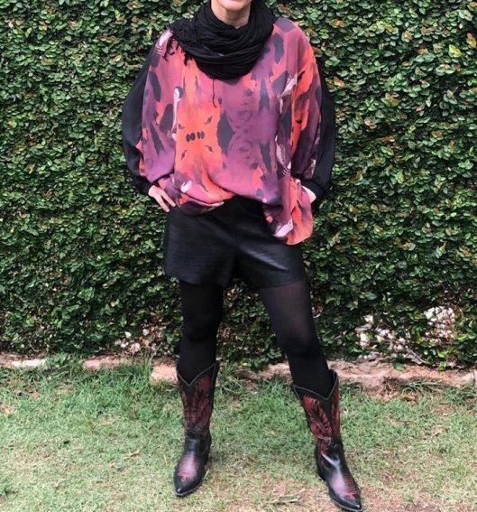 Blusa Ampla Frida Tons Vibrantes