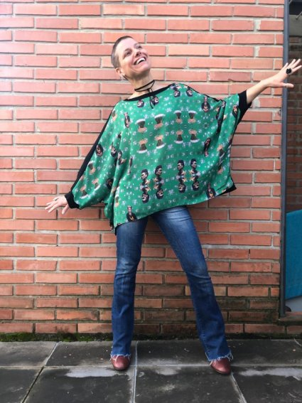 Blusa Ampla Frida Verde