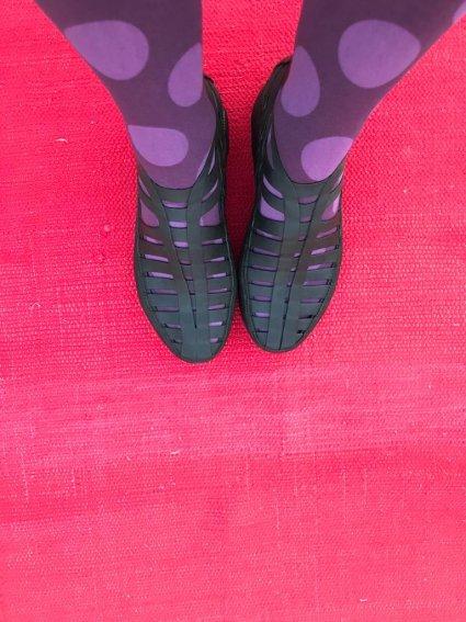 Sapato de Látex Botinha Preta