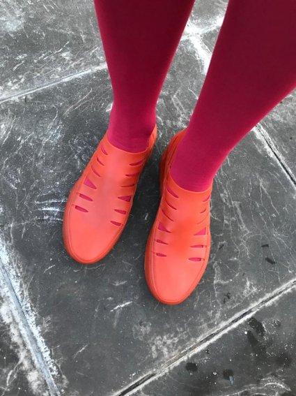 Sapato de Látex Laranja